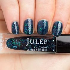 Julep - Cora (It Girl) midnight blue jelly glitter top coat (from the April 2015 Nail-Only Mystery Box)