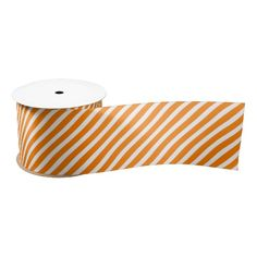 Orange and White Stripes Ribbon ...............This design features orange and white stripes. Can be used for gift wrapping or crafts. More colors available in my store. Just follow the product link to purchase.