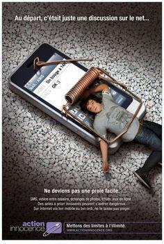 affiche de sensibilisation à l'utilisation des médias sociaux