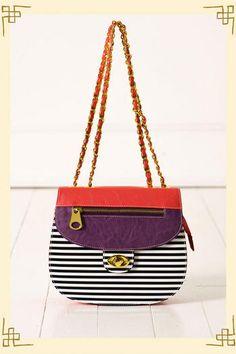Super cute Block Party Crossover Bag in Purple from @shopfrancescas