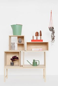 THE GARDEN EDIT: a podium for flexible cabinets.