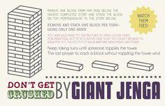 Typography Giant Jenga Instructions Let's Eat Grandpa