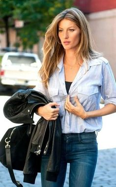 Gisele Bundchen | Street Style. Her hair always looks perfect too