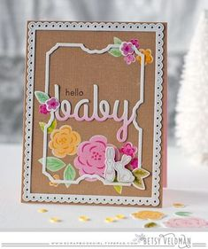 Hello Baby Card by Betsy Veldman for Papertrey Ink (February 2016)