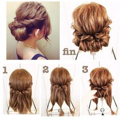 170 Easy Hairstyles Step by Step DIY hair-styling can help you to stand apart from the crowds – Up Hairstyles Medium Hair Styles, Curly Hair Styles, Updo For Short Hair, Thick Hair Updo, Pinterest Hair, Weave Hairstyles, Simple Hairstyles, Stylish Hairstyles, Easy Wedding Guest Hairstyles