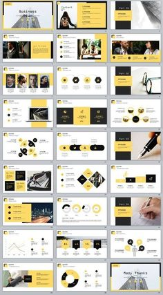 Business infographic : 27 yellow business plan report PowerPoint Template on Behance Ppt Design, Layout Design, Design De Configuration, Powerpoint Design Templates, Slide Design, Web Layout, Keynote Design, Booklet Design, Blog Layout