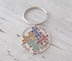 Hey, I found this really awesome Etsy listing at https://www.etsy.com/listing/158589633/personalized-autism-awareness-keychain
