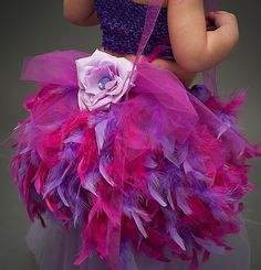 Fabulous Feather bustle from SweetPeas and SugarPlums