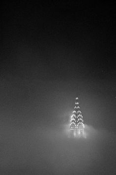 A misty NYC night
