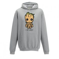 """[ Kids ] """"I Am Groot"""" Cute Baby Groot Guardians of The Galaxy 2 Inspired Hoodie Marvel Hoodies, I Am Groot, Baby Groot, Cute Hoodie, Hoodie Outfit, Cool Hoodies, Personalized T Shirts, Look Cool, Hooded Sweatshirts"""