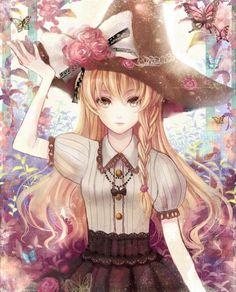 ❤٩(๑•◡-๑)۶❤                                                 Anime - girl: