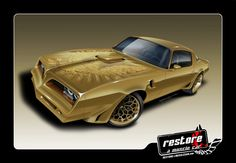 "1981 Pontiac Trans Am Restoration going back to it's original color Gold with a ""King Midas"" theme!  http://www.restoreamusclecar.com/restore/view_details?fdid=1248506  #Trans Am"