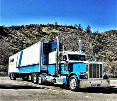 Millions of Semi Trucks Peterbilt 389, Peterbilt Trucks, Semi Trucks, Big Trucks, Truck Paint, Rigs, Tractors, Ranger, Blues