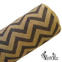 "Chevron Burlap Roll Color: Natural, Black Size: 20"" in width; 10 yards in length (Jute or burlap rolls do have a burlap smell, nothing offensive, it's just burlap)"