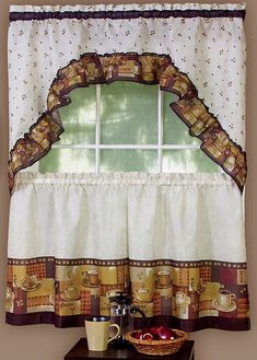 coffee themed curtains kitchen 6