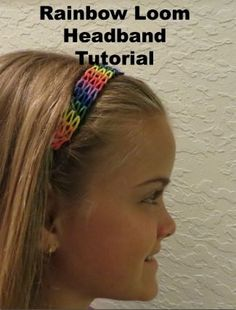 Rainbow Loom Headband Tutorial - Kiddos at Home