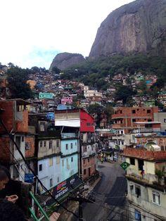 Rocinha Favela (Little Farm) - Is between the districts of São Conrado and Gávea. Rio De Janeiro, Brazil
