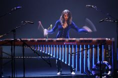 Evelyn Glennie on Marimba, photo by James Wilson. Glennie is playing at the 40th Anniversary Petworth Festival 2018. www.petworthfestival.org.uk