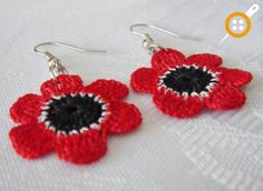 Knitting Earrings Models - 67 Must Knit Earrings - Mesh earring patterns - Crochet Earrings Pattern, Crochet Flower Patterns, Crochet Ruffle Scarf, Knit Crochet, Beaded Jewelry, Handmade Jewelry, Deep Purple, Crochet Stitches, Jewelry Crafts