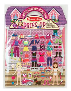 Puffy Stickers Play Set: Dress-Up | Toys for 3-4 year olds | Melissa and Doug