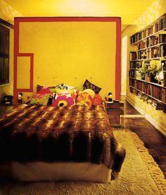 Bedroom Decor, 1970s 1970s Decor, 70s Home Decor, Cat's Pajamas, Interior And Exterior, Interior Design, Sims Ideas, Vintage Bathrooms, Mid Century Decor, Hem