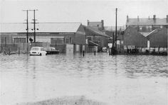 Johnston Car park, Omagh flooded 1969 (C) Kenneth Allen Old Pictures, Old Photos, Slums, Classic Mini, Car Parking, Minis, Past, Things To Come, Adventure