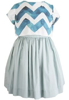 Teal Crop Top Dress. Looks like two pieces, but functions as a dress. For girls up to size 8. (I wish it went up to tween sizes. I think this would appeal to 10  11 years olds as well.)