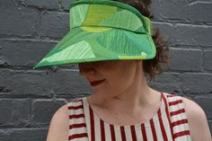 Lucent Visor in Nani Iro My Favorite Color, Hats, Pattern, Sewing, Diy, Clothes, Outfits, Dressmaking, Clothing