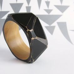 Faceted bangles from UnaOdd on Etsy. Love.