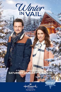 "Winter in Vail premieres January 4 Make a date with Lacey Chabert and Tyler Hynes for ""Winter in Vail,"" the first original movie premiere of 2020 kicking off Hallmark Channel's Winterfest celebration on January Hallmark Channel, Películas Hallmark, Family Christmas Movies, Hallmark Christmas Movies, Holiday Movie, Hallmark Movies, Christmas Quotes, Castle Tv, Castle Beckett"
