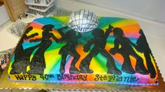 1970 birthday cake | 1970s cake with 3D Disco ball