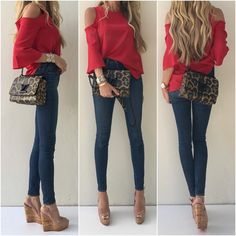 Red and animal print just go together like peas and carrots
