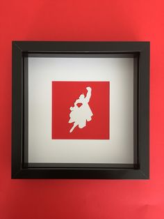 Superman cutout in frame  Available to buy at my etsy store!!  25% discount until 10.6.16 with code 'firstmonth25'  https://www.etsy.com/uk/shop/SuperheroCutouts