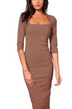 Vililye - Robe crayon taille haute élégante longueur au genou - Femme: Amazon.fr: Vêtements et accessoires