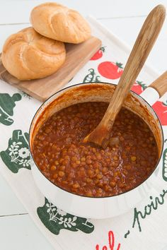 BBQ Sloppy Lentils (vegan). I added fresh garlic (3 cloves) and substituted onion powder for mustard powder. I also added 1 large shredded carrot and chopped celery (small). I think because of the added veggies, it needed more water. Very good!