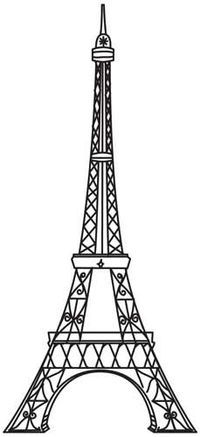 Vintage French Stencils | Vintage Eiffel Tower design (UTH4504) from UrbanThre... / quilting ...