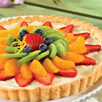 Fruit Tart that is almost too pretty to eat…. Almost.