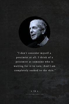 INFJ - Leonard Cohen