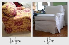 Club chair slipcover | by The Slipcover Girl
