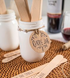 Time to create a DIY task jar and divvy up the chores this Thanksgiving. Learn how to make your own task jar in this version. Make Your Own, Make It Yourself, How To Make, Sutter Home, Diy Thanksgiving, Holiday Ideas, Home And Family, Jar, Wine