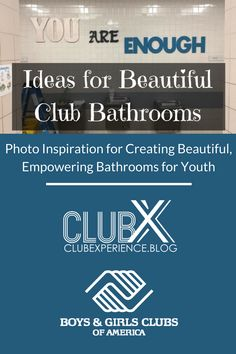 Are your Boys & Girls Club or other youth serving organization bathrooms beautiful? Get some inspiration on the Club Experience Blog! Boys And Girls Club, Boy Or Girl, Bulletin Board Display, Youth Programs, Bathroom Remodeling, Remodeling Ideas, Bathrooms, Organization, Tween
