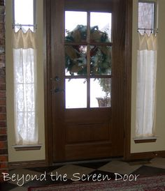 New Entry Hall Window Treatments | Beyond the Screen Door