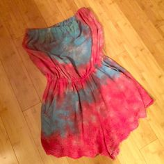 Tie Dye Romper‼️FLASH SALE‼️ Good condition, no marks, stains, smells etc. Worn twice. Brand listed for exposure Free People Dresses