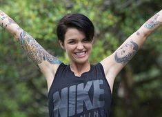 Ruby Rose as Stella Carlin Orange Is The New Black, Cut And Style, Cut And Color, Hippe Tattoos, Ruby Rose Hair, Rubin Rose, Australian Models, Girl Crushes, My Hair