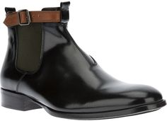 210eb8b9322a4 Alexander McQueen - Black Buckled Chelsea Boots for Men - Lyst