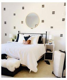 Masking Tape Wall, Tape Wall Art, Washi Tape Diy, Diy Washi Tape Wall Decor, Diy Washi Tape Wallpaper, Duct Tape, Washi Tape Mural, Washi Tape Headboard, Diy Wallpaper