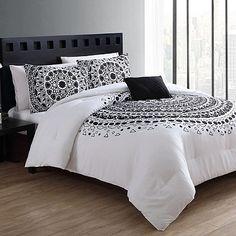 VCNY Tessa King Duvet Cover Set in Black/White