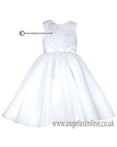 61f6d6f1f7 Sarah Louise Girls Christening Dress 9435-070019 White