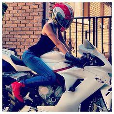 Girl & MV Agusta F3 Mv Agusta, Sportbikes, Biker Girl, Bike Life, Lady, Sports, Motorcycles, Wheels, Women