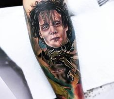 Edward Scissorhands tattoo by Bolo Art Tattoo